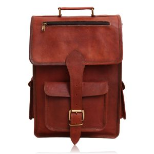 Ethan Vintage 2 in 1 Leather Backpack Messenger Bag