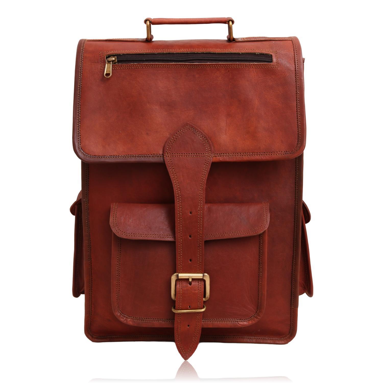 9ced5c1af460 Ethan Vintage 2 in 1 Leather Backpack Messenger Bag