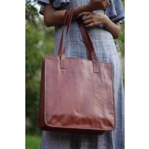 Minimalist Genuine Leather Tote Bag