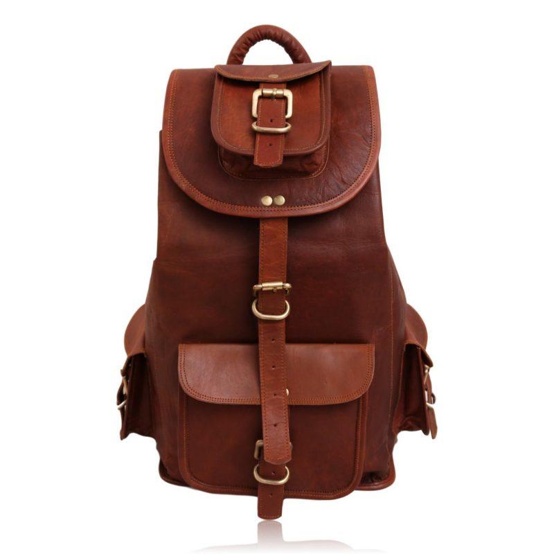 The Explorer Leather Rucksack Backpack