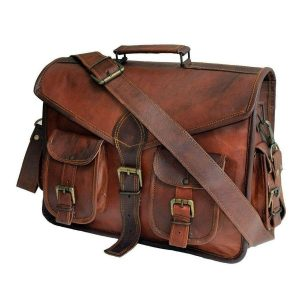 Daftar Multi Pocket Leather Briefcase Messenger Bag