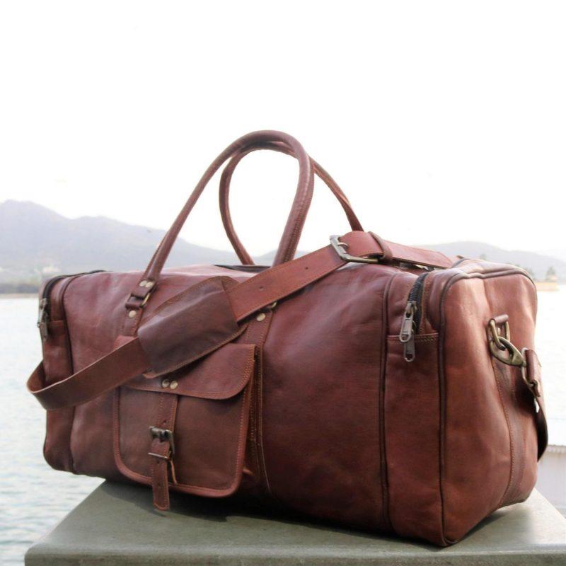 The Traveler Leather Duffel Bag